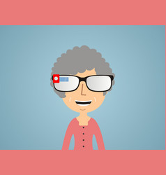 woman in smart glasses vector image vector image