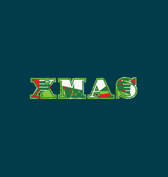 xmas concept word art vector image