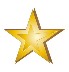 yellow star on white background vector image