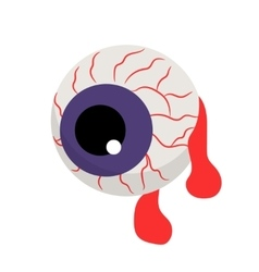Zombie bloody eye vector