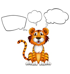 A tiger with empty callouts vector image vector image