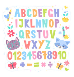 cute cartoon colorful alphabet for children vector image vector image
