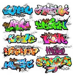 Graffiti wall urban art vector image vector image