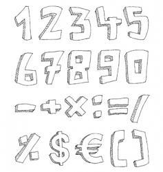 mathematicas vector image vector image