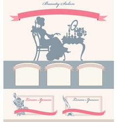Template for beauty salon vector image