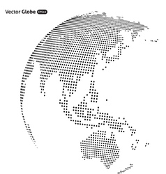 abstract dotted globe Central heating view on vector image vector image