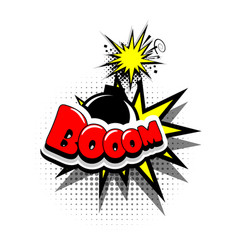comic book text bubble advertising boom vector image