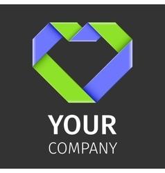 heart logo template vector image vector image