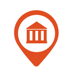 location bank icon vector image vector image