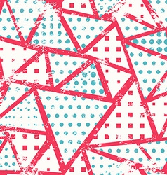pink triangles seamless pattern vector image