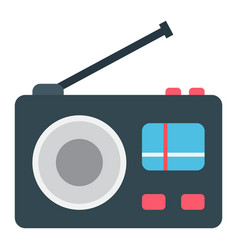 Radio flat icon communication and website vector