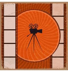 Vintage orange background vector image vector image