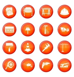 Architecture icons set vector image