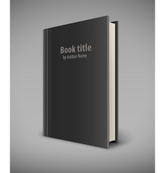 Book template with black cover vector image vector image