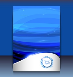 Flyer or brochure cover design - abstract vector image