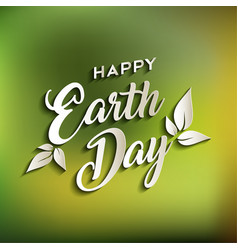 Happy earth day quote for world environment care vector
