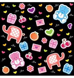 kids fun pattern vector image