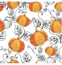 orange pumpkin on white vector image