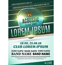 Poster for a acoustic concert or a rock festival vector image