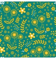 Seamless floral pattern colorful vector image vector image