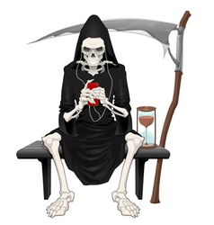 The death sitting on a bench vector image vector image