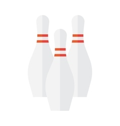 Bowling Pin Icon vector image