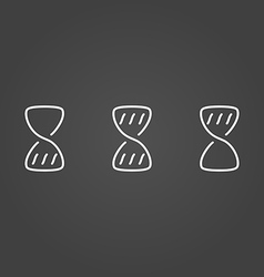 Hourglass wait set icons draw effect vector image vector image