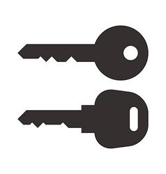 Key and car key symbols vector image