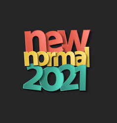 2021 new year calendar cover new normal vector