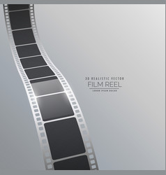 3d film strip background design vector