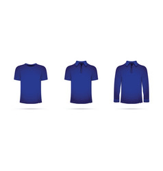 a set of blue t-shirts vector image