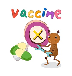 A simbol of vaccine vector image vector image