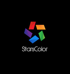 Abstract colorful star logo sign symbol icon vector