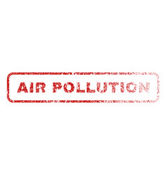 Air pollution rubber stamp vector
