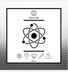 Atom symbol - science icon vector