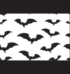 bats wrapping paper seamless pattern for halloween vector image