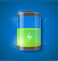 Battery level indicator vector