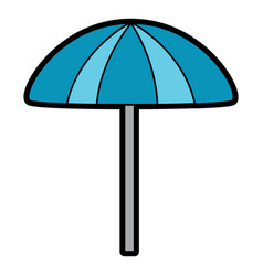 beach umbrella protection accessory symbol vector image