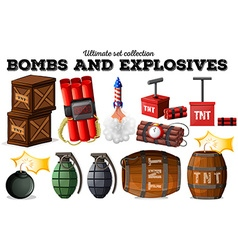 Bombs and explosive objects vector