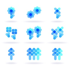 botany symbols vector image