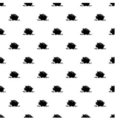 Broken piggy bank pattern seamless vector