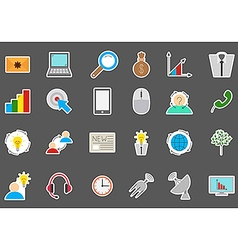 Business communication stickers set vector image