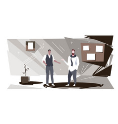 businessmen couple discussing new project during vector image