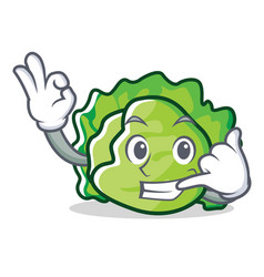 Call me lettuce character mascot style vector