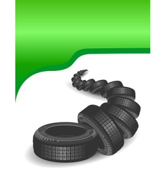 Car tires vector
