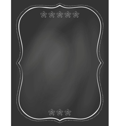 Chalk board and drawn frame on it vector