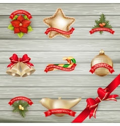 Christmas decor Objects collection EPS 10 vector image vector image
