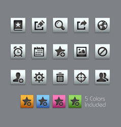 Communications interface icons - satinbox series vector