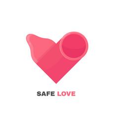 condom logo design heart vector image
