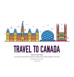 Country canada travel vacation place and vector